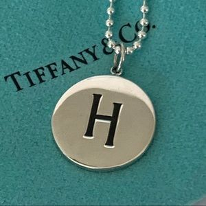 NWT TIFFANY & CO. Silver H Initial Beaded Pendant